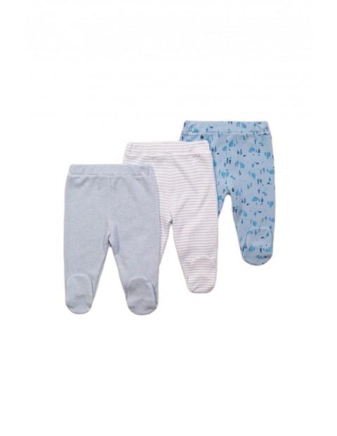 3 pak półśpiochy niemowlęce - niebieskie