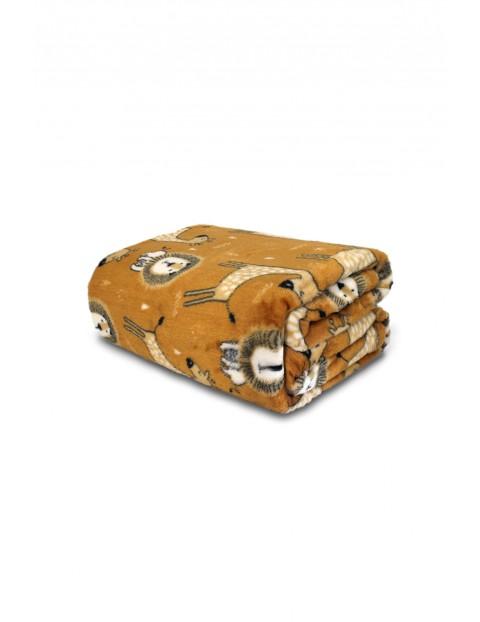 Koc Mooky flanela- brązowy 150x200cm