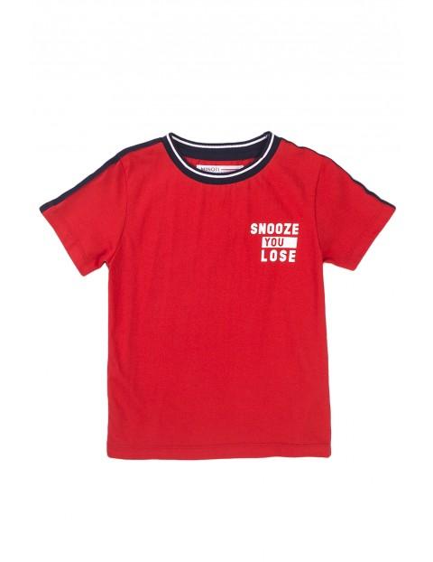 Piżama chłopięca z krótkim rękawem czerwona