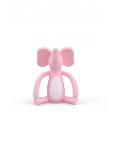 Gryzak zwariowany słonik -GiliGums- różowy - 3msc+