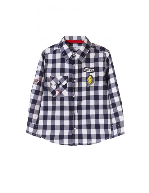 Koszula chłopięca w kratę 1J3505