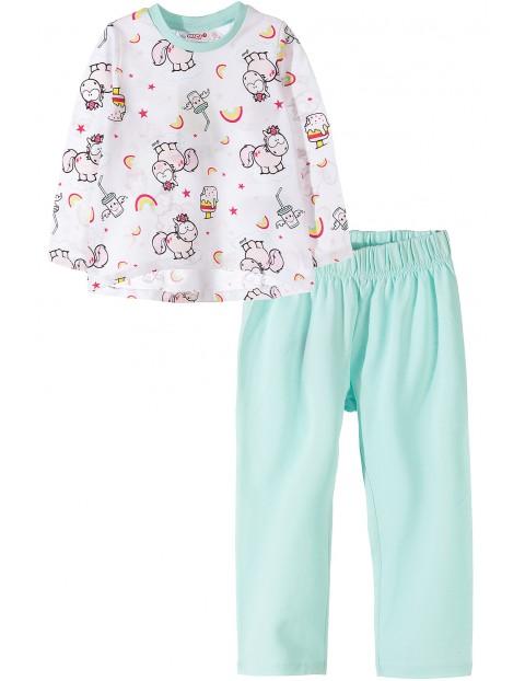 Piżama dziewczęca w jednorożce 3W35BF
