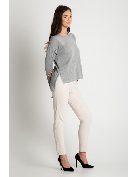 Bluzka damska szara z długim rękawem