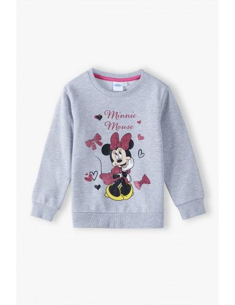 Bluza dresowa dziewczęca Minnie -szara