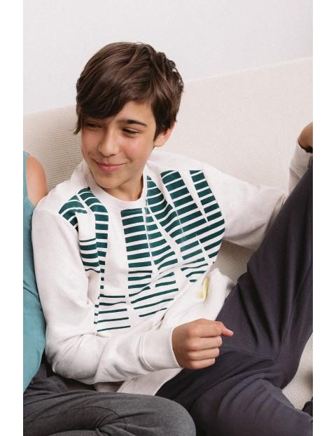 Cienka dzianinowa bluza dresowa dla chłopca