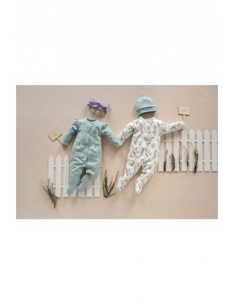 Pajac niemowlęcy bawełniany - wzór kwiatów