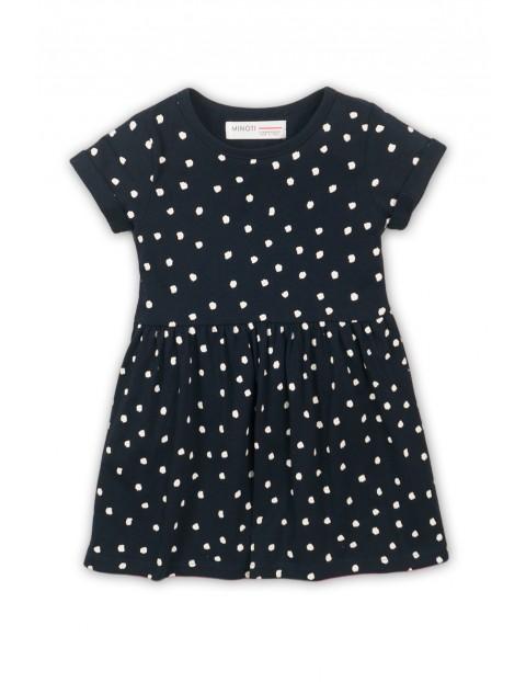Sukienka niemowlęca czarna w białe plamki