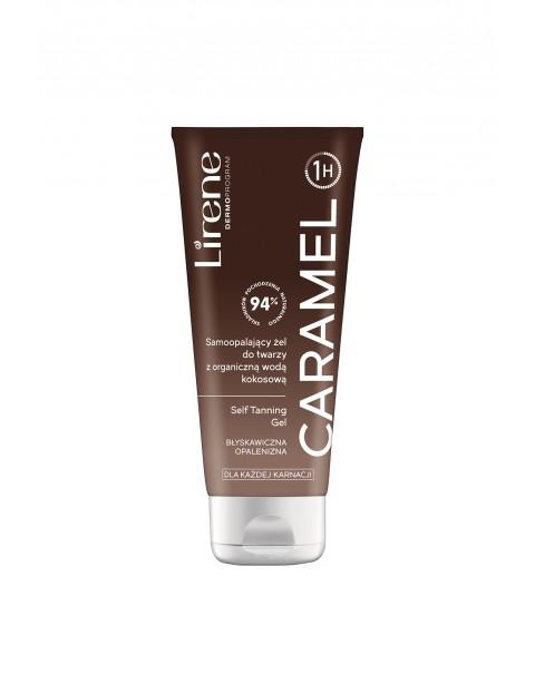 Lirene Caramel - Samoopalający żel do twarzy z organiczną wodą kokosową 75 ml