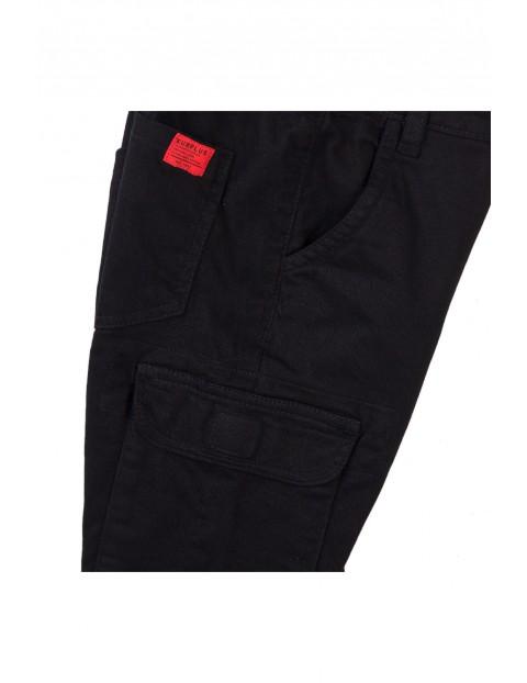 Spodnie chłopięce z kieszeniami - czarne