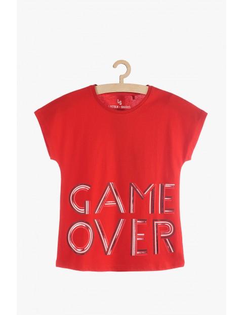 T-shirt czerwony dla dziewczynki