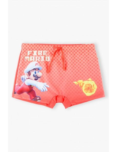 Bokserki kąpielowe Super Mario- czerwone