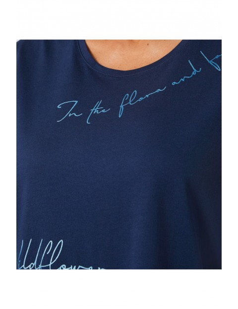 Granatowa koszula nocna Triumph Lounge-Me Cotton
