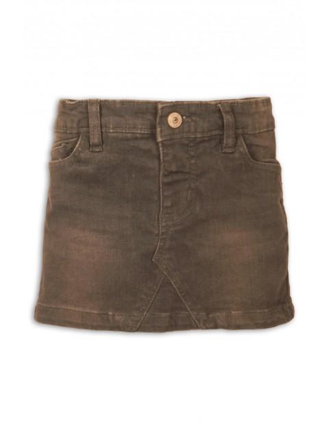 Spódnica jeansowa dziewczęca- brązowa