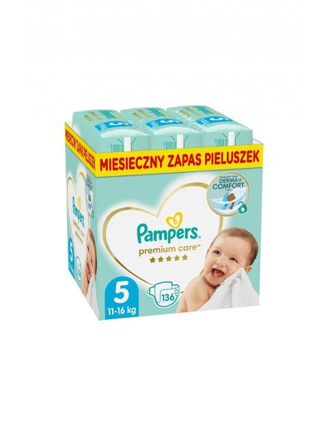 Pampers Premium Care, rozmiar 5, 136 pieluszek 11-16kg