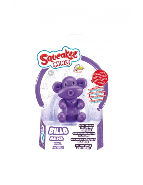 Squeakee Minis - Interaktywny balon Małpka BILLO - fioletowa wiek 5+