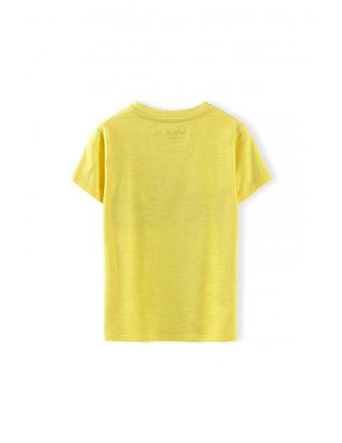 T-shirt chłopięcy w kolorze żółtym z napisem- Wild