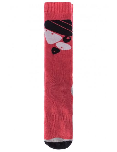 Skarpety dziewczęce różowe narciarskie