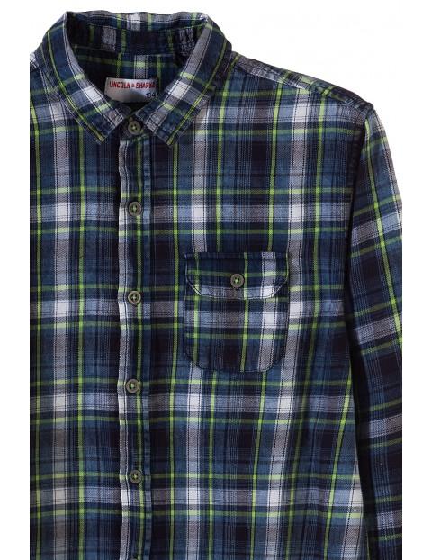 Koszula chłopięca w kratę z długim rękawem