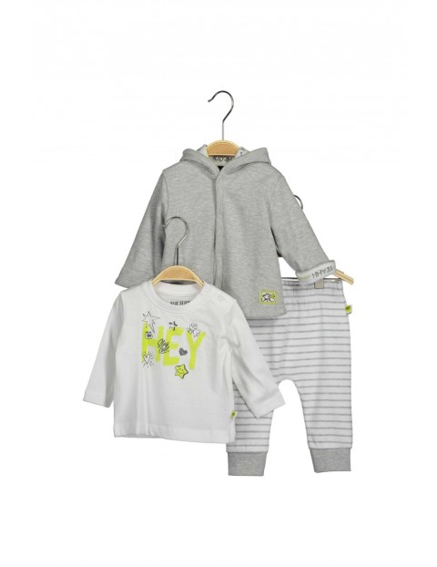 Komplet niemowlęcy bluzka bluza i spodnie
