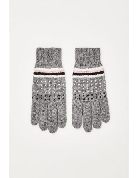 Rękawiczki z ociepleniem - szare