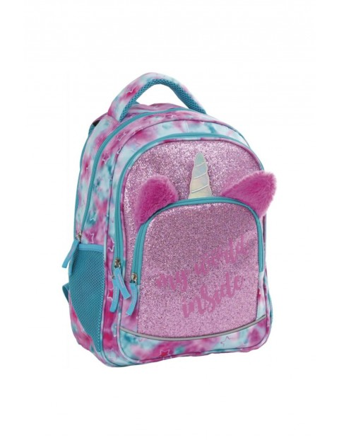 Plecak dziewczęcy Brokatowy jednorożec