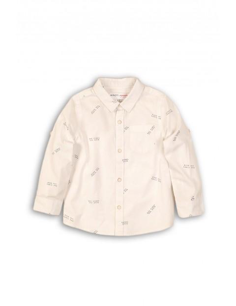Koszula chłopięca biała we wzorki rozm 92/98