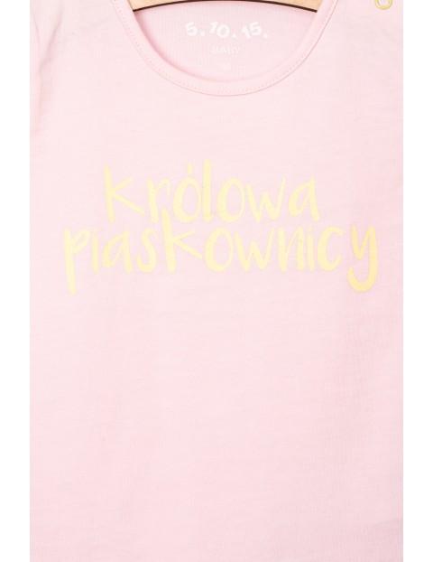 T-Shirt niemowlęcy z polskimi napisami- Królowa Piaskownicy