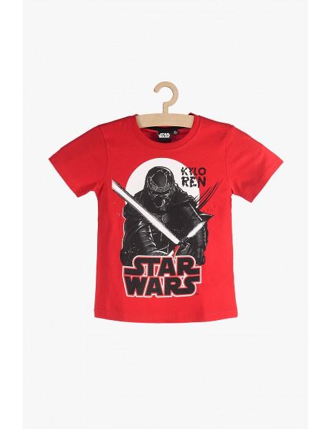 T-shirt chłopięcy czerwony bawełniany - Star Wars