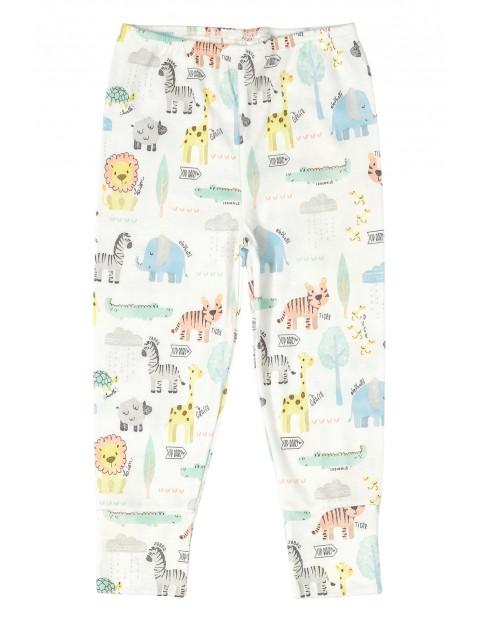 Spodnie niemowlęce bawełniane Safari