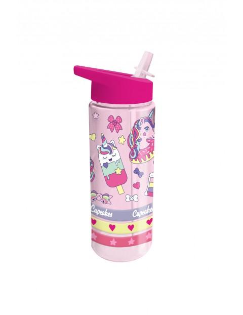 Bidon dla dzieci Cupcake - różowy  500 ml