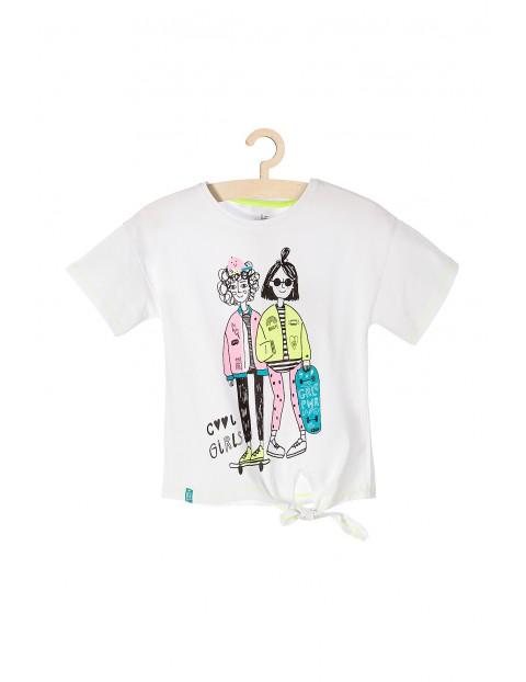 T-shirt dziewczęcy z ozdobnym wiązaniem