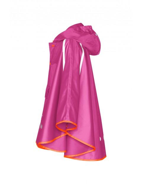 Poncho przeciwdeszczowe składane do torebki fioletowe
