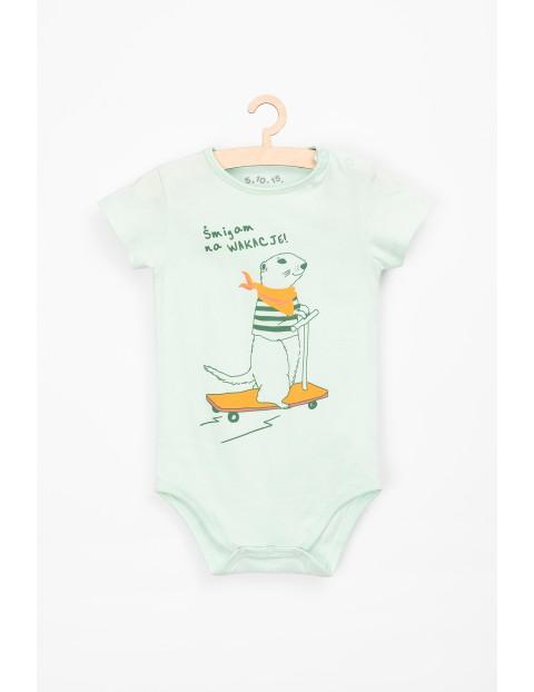 Body niemowlęce z nadrukiem- śmigam na wakacje