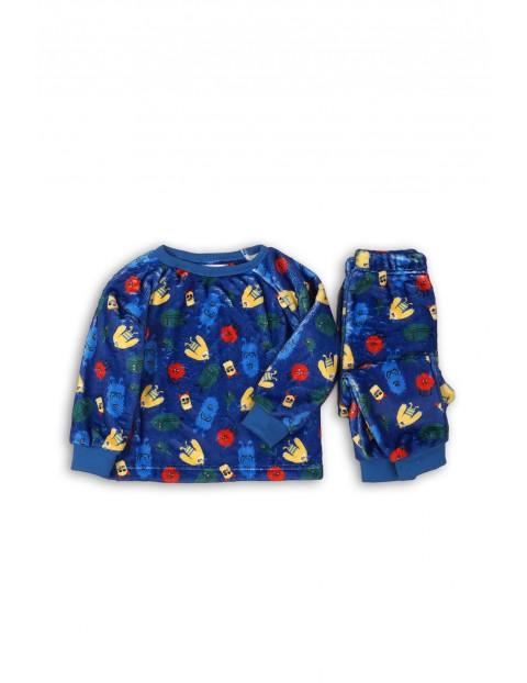 Piżama niemowlęca  we wzorki - niebieska