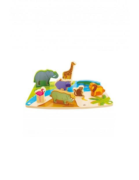 Drewniana układanka Dzikie zwierzęta puzzle
