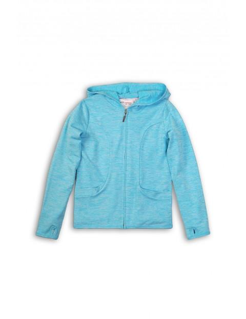 Niebieska bluza sportowa dla dziewczynki