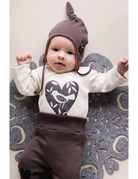 Kaftanik niemowlęcy wiązany Little Bird - ecru