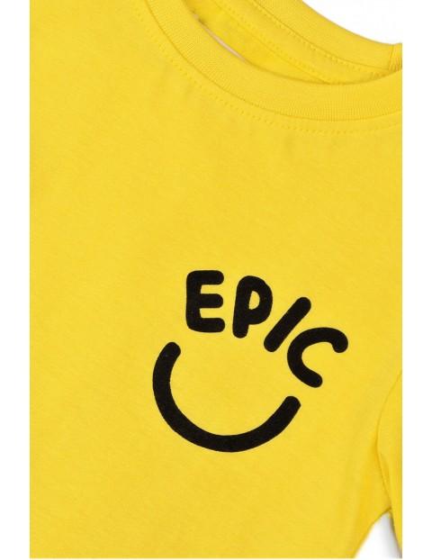 Bawełniany T-shirt niemowlęcy z napisem- Epic