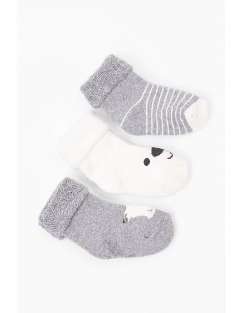 Skarpety frotte dla niemowlaka- 3pak