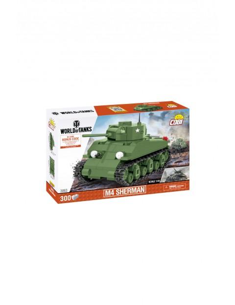 Klocki Cobi Czołg  M4 Sherman SKALA 1;48 - 300 klocków wiek 6+