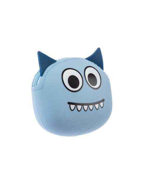 Portfelik silikonowy- niebieski stworek