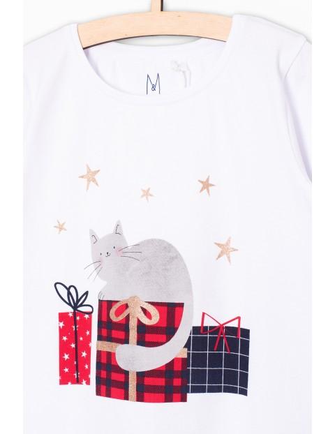 Bluzka dziewczeca z motywem świątecznym