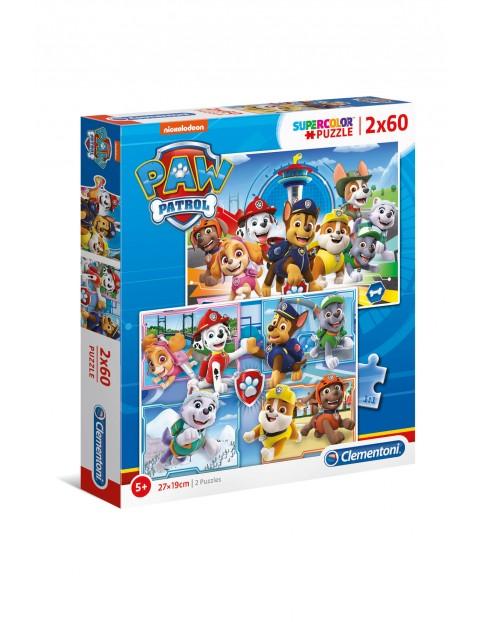 Puzzle Super Color Psi Patrol - 2 x 60 elementów wiek5+