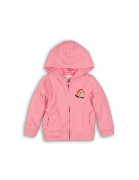 Bluza dresowa niemowlęca różowa z kolorowym nadrukiem
