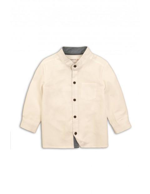 Koszula niemowlęca kremowa bawełniana