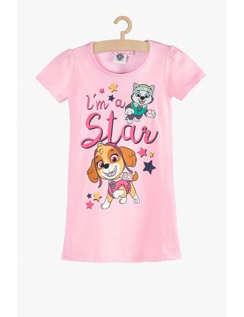 Koszula nocna dla dziewczynki Psi Patrol - różowa