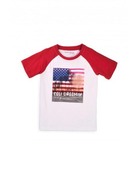 T-shirt chłopięcy bawełniany z nadrukiem