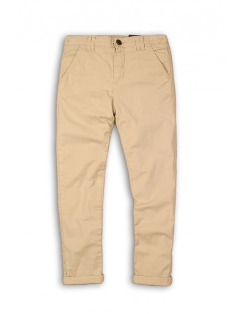 Spodnie chinosy dla chłopca-beżowe