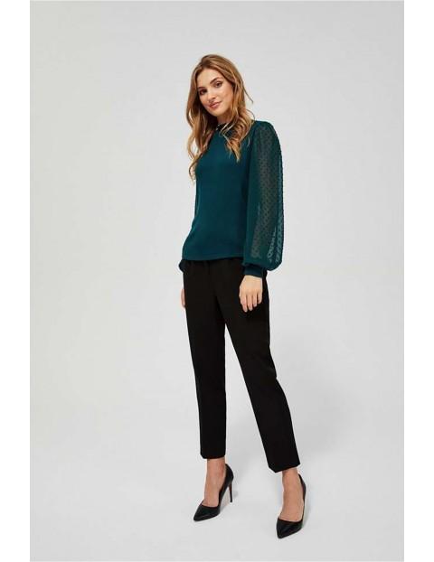 Bluzka z bufiastymi rękawami zielona