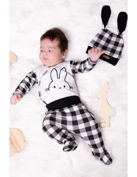 Kopertowe bawełniane body niemowlęce z długim rękawem